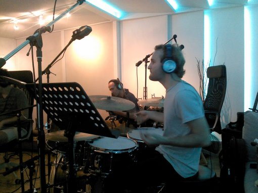 Jorge Balbi and Ian Walker at Arimaka Studio, Oct 2013, Los Feliz, CA
