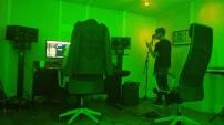 Jordan recording back vocals