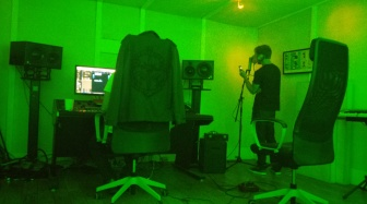 Jordan recording back vocals