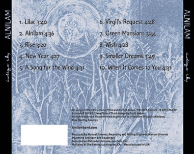 Back cover Indigo Sky CD
